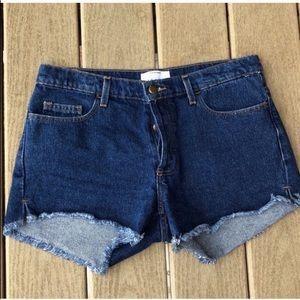 American Apparel Tri Button High Waisted Shorts
